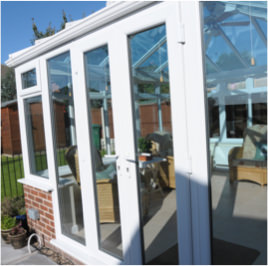 uPVC White Conservatory doors