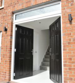 Black double front doors & Composite Doors - The Home Design Group | Belfast Northern Ireland