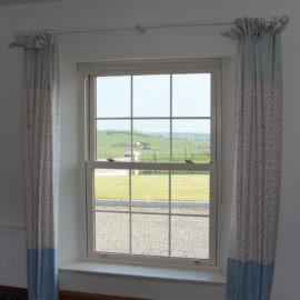 Cream Vertical sliding sash windows